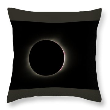 Total Eclipse Solar Flares Throw Pillow