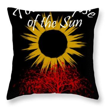 Total Eclipse T-shirt Art Murphy Nc Throw Pillow