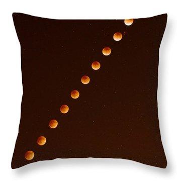 Total Lunar Eclipse September 27 2015 Throw Pillow