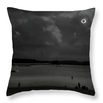 Total Solar Eclipse At Clemson Throw Pillow