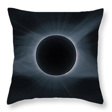 Total Solar Eclipse Corona Throw Pillow