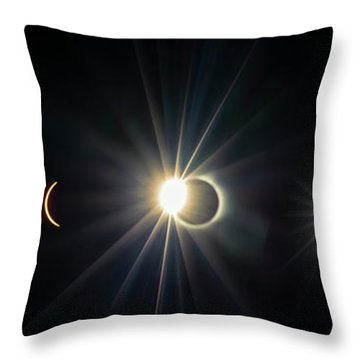 Total Solar Eclipse Sequence Throw Pillow