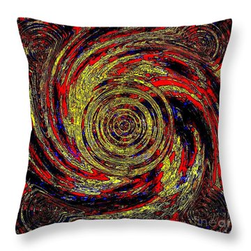 Total Water Swirl Effect  Throw Pillow