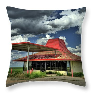 Totaled Throw Pillow