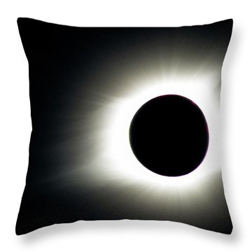 Totality And Mercury Throw Pillow
