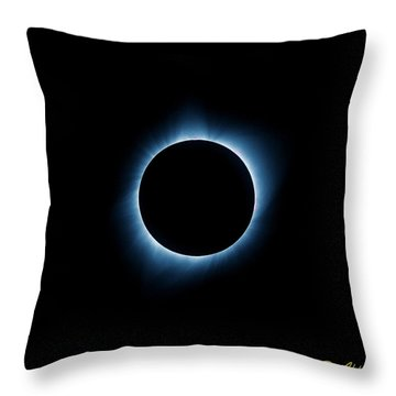 Throw Pillow featuring the photograph Totality by Rikk Flohr
