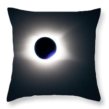 Throw Pillow featuring the photograph Totality Unfiltered by Onyonet  Photo Studios