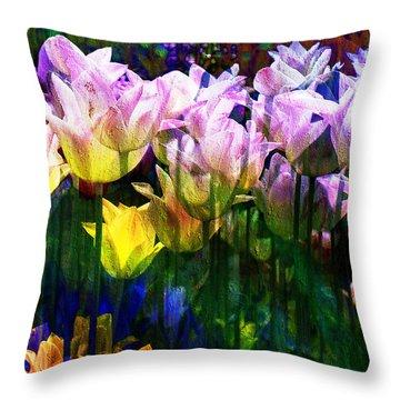 Totally Tulips Throw Pillow