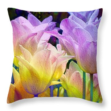 Totally Tulips Two Throw Pillow