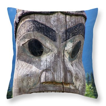 Totem Throw Pillow by Marty Koch