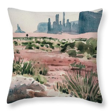 Totem Pole Throw Pillow by Donald Maier
