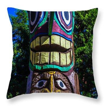 Totem Pole Throw Pillows