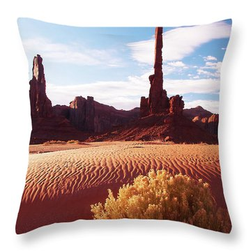 Totem Pole Throw Pillow