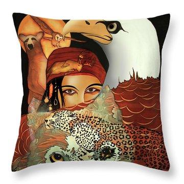Totems Throw Pillow