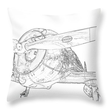 Touch And Go Throw Pillow