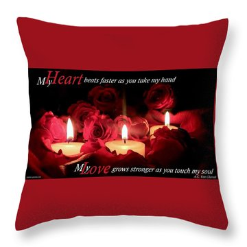 Touch My Soul Throw Pillow by David Norman