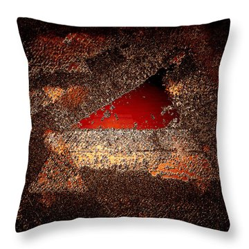 Throw Pillow featuring the digital art Touch Of Brown by Paula Ayers