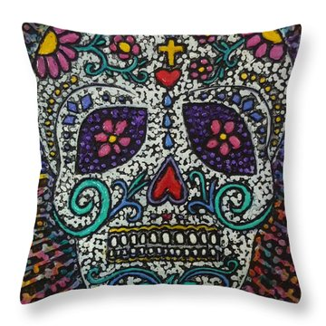 Touch Of Death Throw Pillow