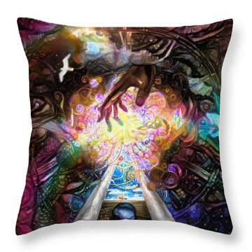 Touch Of God Throw Pillow