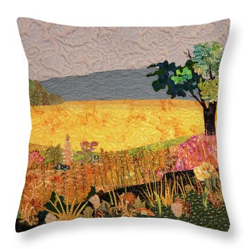 Touch Of Goldenrod Throw Pillow