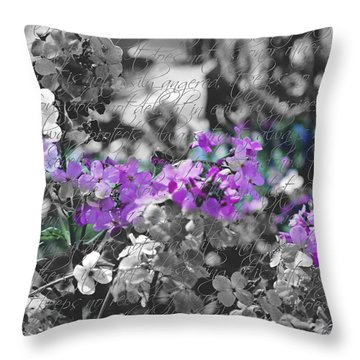 Touch Of Phlox Throw Pillow