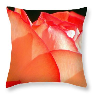 Touch Of Rose Throw Pillow by Karen Wiles