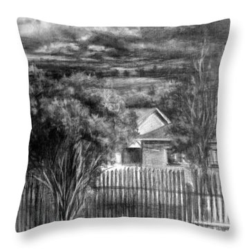 Touch Of The Sun In Gloomy Day Throw Pillow