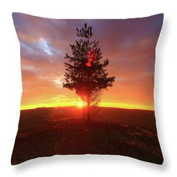 Touch The Dawn Throw Pillow