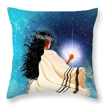 Touch The Light Throw Pillow