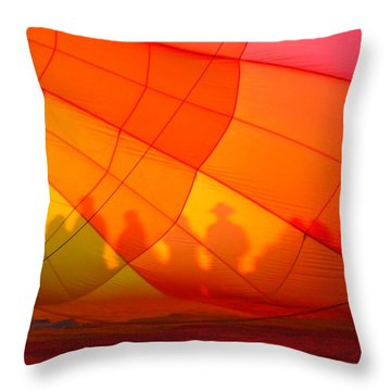 Touch The Rainbow Throw Pillow by Leah Moore