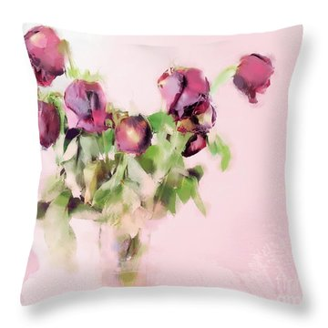 Throw Pillow featuring the mixed media Touchable by Betty LaRue