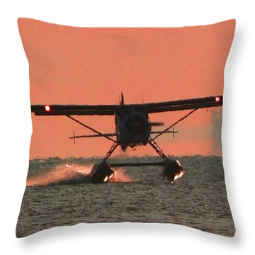 Throw Pillow featuring the photograph Touchdown by Mark Alan Perry