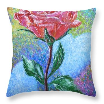 Touched By A Rose Throw Pillow