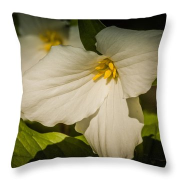 Touched By A Trillium Throw Pillow
