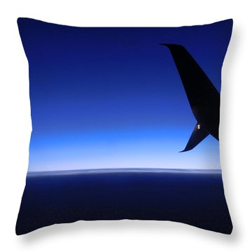 Touched By Blue Skies Throw Pillow