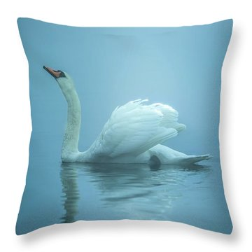 Touched By The Light Throw Pillow by Rose-Marie Karlsen