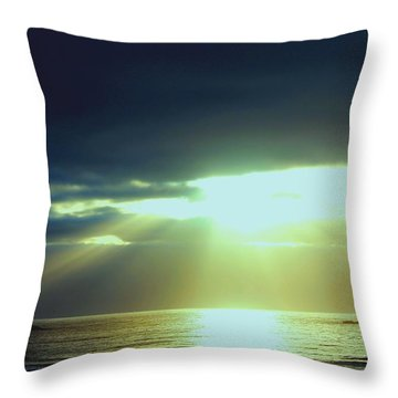 Touched From Above Throw Pillow