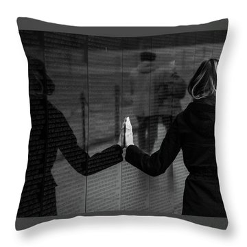 Throw Pillow featuring the photograph Touching Moment by Dennis Dame