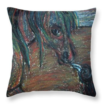 Touching Noses Throw Pillow