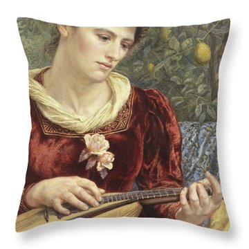 Touching The Strings Throw Pillow