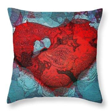 Tough Love Throw Pillow by Linda Sannuti