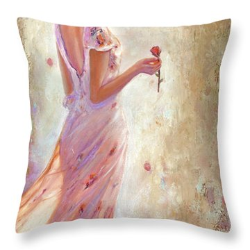 Toujours De Fleurs Throw Pillow