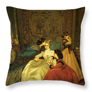 Toulmouche Auguste The Reluctant Bride Throw Pillow
