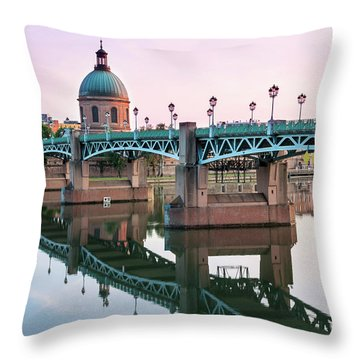 Throw Pillow featuring the photograph Toulouse At Sunset by Elena Elisseeva