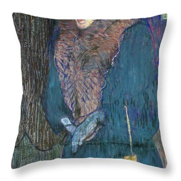 Toulouse-lautrec: J.avril Throw Pillow by Granger