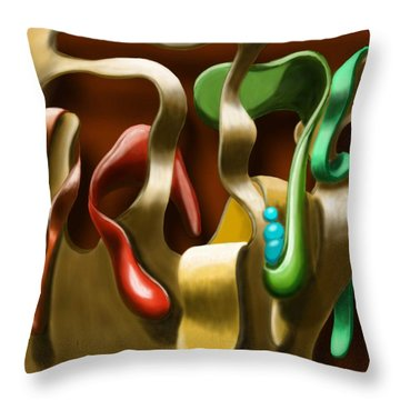 Toungue Wall Throw Pillow