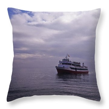 Tour Boat San Francisco Bay Throw Pillow