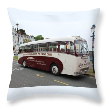 Tour Bus Throw Pillow