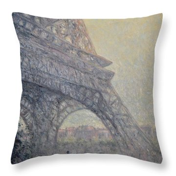 Paris , Tour De Eiffel  Throw Pillow by Pierre Van Dijk