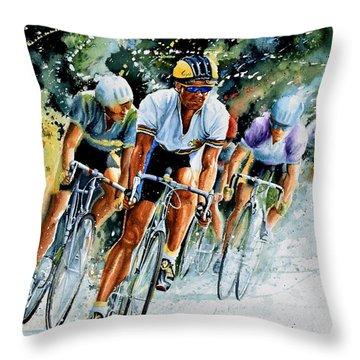 Tour De Force Throw Pillow